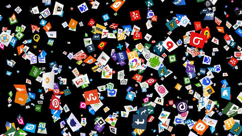 Social Media Confetti Explosion - 01 stock footage