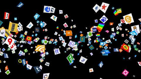 Social Media Confetti Explosion - 03 Animation