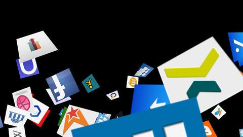Social Media Confetti Explosion - 05 Stock Video Footage