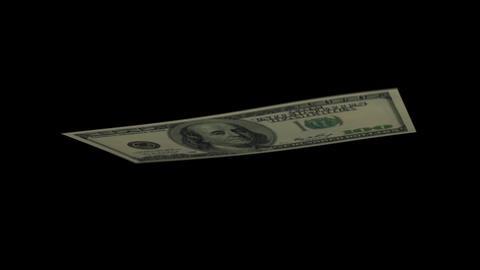 100 USD Bill - 2006 - 3D Diagonal Spinning Loop Stock Video Footage