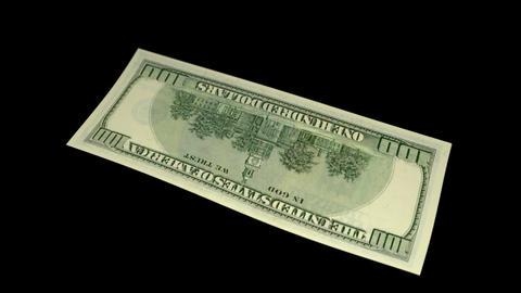 100 USD Bill - 2006 - 3D Diagonal Spinning Loop Stock Video Footage
