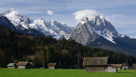 Spring in Bavarian Alps Footage