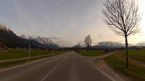 Driving in Bavarian Alps Footage