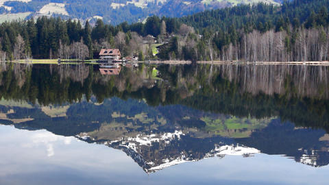 Lake in Alps Stock Video Footage