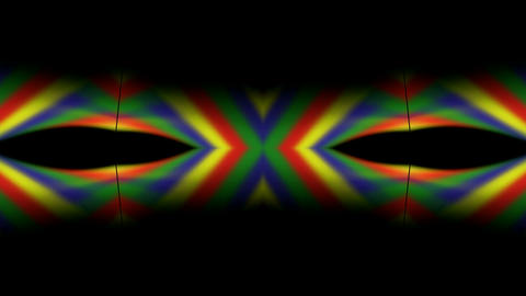 color stripe shaped magic pattern,rainbow colors... Stock Video Footage