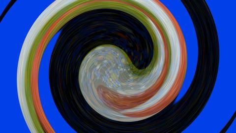 Tai Chi meditation symbol,Chaos world,swirl circle in space,rotation curve round Animation