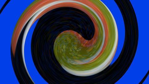 Tai Chi meditation symbol,Chaos world,swirl circle in... Stock Video Footage