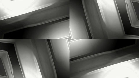 rotation metal panel,sliver machinery,sci-fi entry... Stock Video Footage