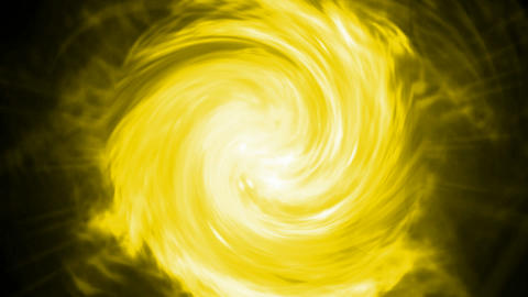 swirl fire cyclones shaped tunnel hole in cosmos,Solar storms,flame hurricane,Di Animation