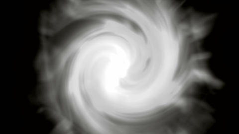 centre of swirl cyclone,rotation energy tunnel in universe,white clouds.particle Animation
