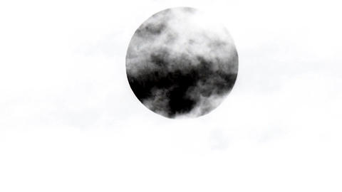 Moon behind clouds with inversion filter Footage