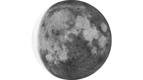 Moon phases 30 days timelapse animation with inversion filter Footage