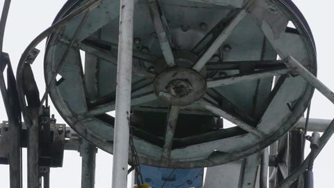 Detail of wheel lift facility that trains cable 17p1 Footage