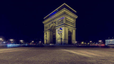 Paris, France - Timelapse - The Arc de Triomphe Footage