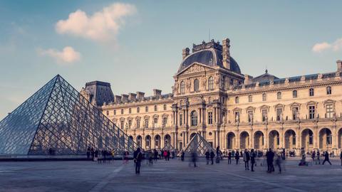 Paris, France - Hyperlapse - The Louvre Footage