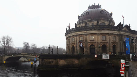 Berlin, Germany The Bode Museum facade Footage