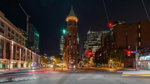 Toronto, Canada - Timelapse - Wellington Street East Footage