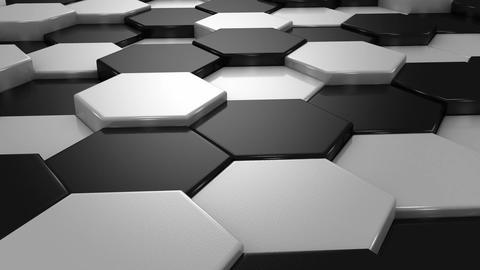 White and Black Blocks Animation Animation