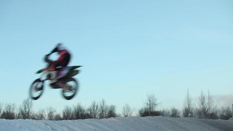 motocross race high jumps Live Action