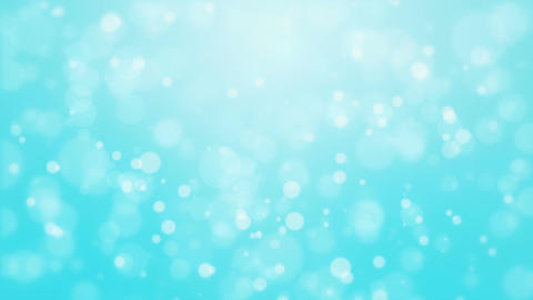 Turquoise blue background with light bokeh particles Animation