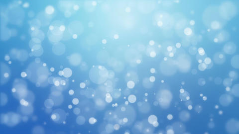 Blue background with moving particle lights Animation