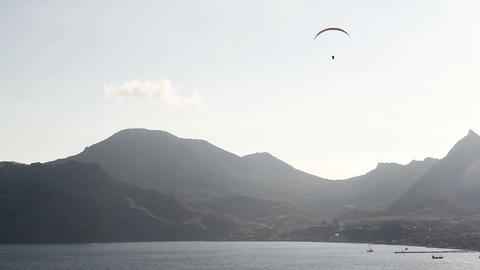 Two paraglider above the bay Footage