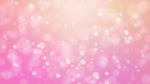 Romantic pink orange background with moving particle lights Animation