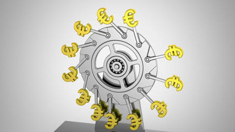 Perpetual Motion Machine of Economy Animation