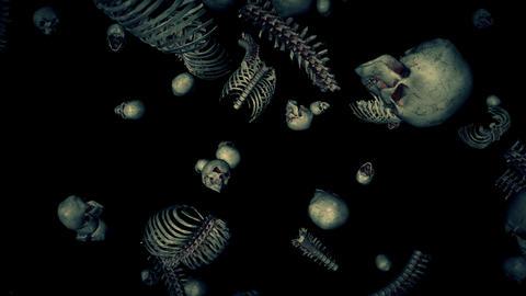 Falling Bones Loop Animation