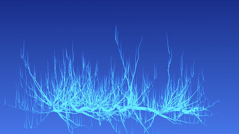 Illuminated tree growing pulsating buds Animation