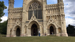 St Albans Cathedral St Albanks Hertfordshire UK Footage