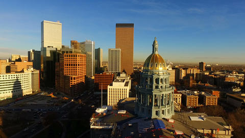 Denver Colorado Downtown City Skyline Capital Building... 動画素材, ムービー映像素材