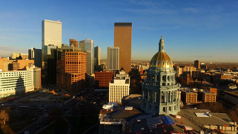 Denver Colorado Downtown City Skyline Capital Building... lizenzfreie Videos