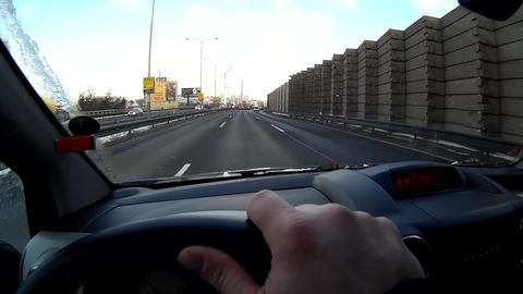 Driving a car POV Footage