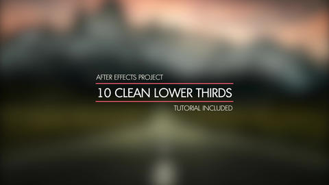 10 Simple & Clean Lower Thirds After Effects Template