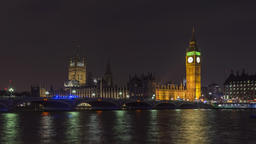 London, UK - Timelapse - The Thames and Big Ben Footage