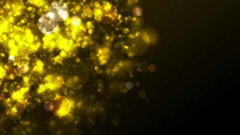 Golden sparkling abstract luminous video animation Animation