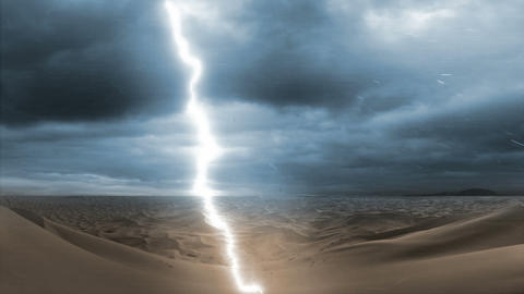 Desert and Lightning (Blue) Filmmaterial