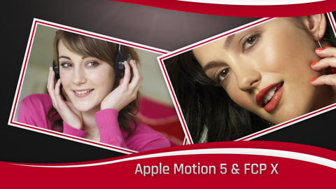 Floating Photos Apple Motion Template