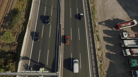 AERIAL   Highway Footage