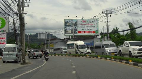Highway of Phuket Island Footage