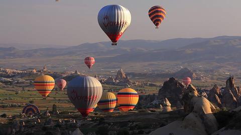 Capadocia baloons Footage