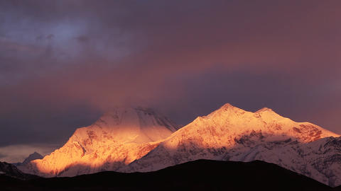 Dhaulagiri Sunrise Time Lapse Animation