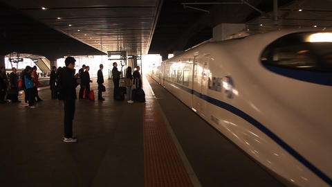 High-speed train Shanghai Footage