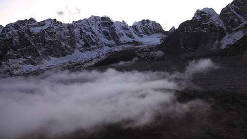 Clouds from Kala Patthar Footage