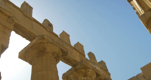 Selinunte, Hera Temple Capital and Metope Footage