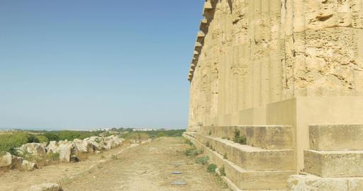 Selinunte, Hera Temple Column Staircase Footage