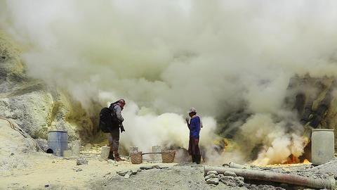 Sulfur Indonesia Footage