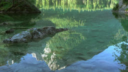Reflection in Water of Mountain Lake. Seamless Loop Footage