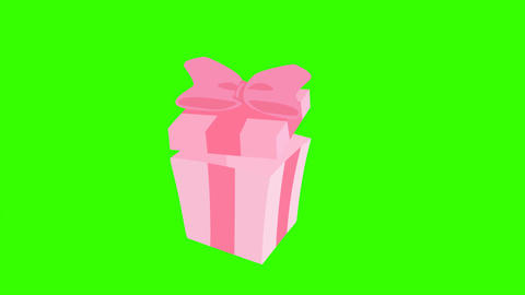 Animated Gift Box Opening and Closing: Loop + Matte CG動画素材